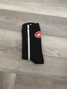 New Black & White Stripe Cycling Socks Size 7-13