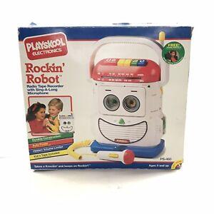 Playskool Rockin Robot Mr Mike Radio Tape Recorder & Microphone Working New