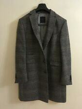 SHELBY AND SON CHECK MENS OVERCOAT SIZE 46
