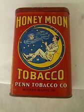 VINTAGE ADVERTISING HONEY MOON TOBACCO VERTICAL  POCKET TIN    643-J