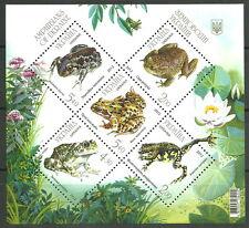 Ukraine - Amphibien postfrisch 2012 Mi. 1305-1309 Block 104