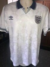 Inglaterra Italia'90 Copa Del Mundo Retro Umbro Home Camisa Adulto Medio Gazza No.19