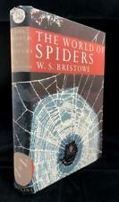 1958 NEW NATURALIST LIBRARY WORLD OF SPIDERS No 38 DUST WRAPPER 1ST EDITION