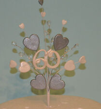 25th 40th 50th 60th wedding anniversary heart cake topper decoration spray