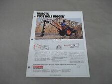 Kubota B Series Tractor K2373 Post Hole Digger Sales Sheet  with Specifications