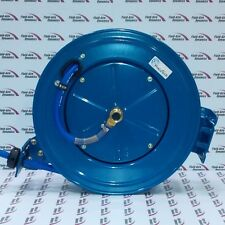 Retractable Air / Water Hose Reel 3/8 x 65' 3/8 NPT Connections Racheting Lock