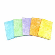 Textured/cloudy Pastel Colour Fat Quarter 5 Packs/bundles From Fabric Palette Mixed Pink
