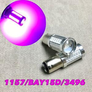 Rear Turn Signal Light 1157 2057 3496 7528 33 SMD BAY15D Purple LED Bulb W1 JAE