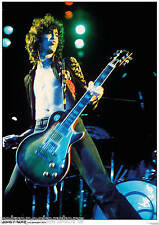 "Jimmy Page Led Zep in LA - Retro Poster A2 Size 42cm x 59.4cm - approx 16"" x 23"""