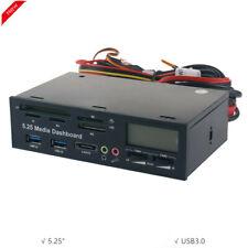"5.25"" Media Dashboard Multi-Card Reader USB3.0 Front Optical Drive Panel Drive"