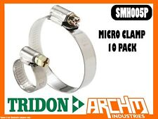 TRIDON SMH005P - MICRO CLAMP HOSE 10 PACK 11MM-18MM SOLID BAND PART STAINLESS