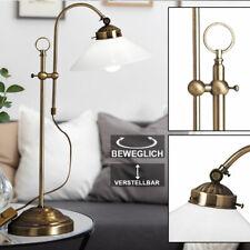 LED Schreib Tisch Lampe Leuchte Landhaus Vintage Retro Antik Beleuchtung Messing