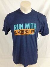 "Saucony Ride 10 Graphic Tee Blue ""A Perfect 10"" SA59589-MIDH Men's Large"