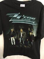 ZZ Top Men's Shirt Size Large Vintage Y2K Concert Tour T shirt Double sided