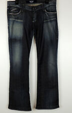 "Rock & Republic Womens 31 Dark Wash Jewel Stonewash Jeans Waist 34"" Inseam 31.5"