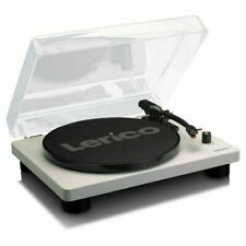 Lenco LS50 Wooden USB Turntable With Built In Speakers (grey)