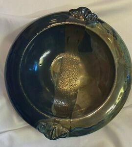 Evans Signed Studios California Large Pottery Art Bowl Centerpiece Table Decor