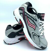 Saucony Grid Prestige 2 Womens Size 8 Running Shoes Silver Black Pink 15134 EUC