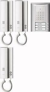 Ritto Entravox Audio-Set, 3 Wohneinheiten, silber/weiß (1841320)