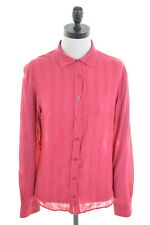 TIMBERLAND Womens Shirt Size 10 Small Red Cotton Loose Fit