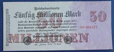 Reichsbanknote 25.07.1923 Ros.97b  50 Mio. Mark 1923....od 6,99