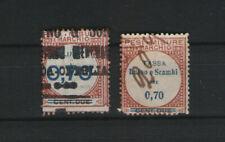 ITALY REVENUE- MARCHE DA BOLLO -FISCAL - 1921 IGE LUSSO SCAMBI 0,70  SX - DX