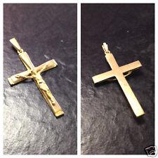 Anhänger Kreuz Goldanhänger 750er Gold Goldkreuz Gelbgold 18 Karat Corpus