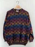 Vintage Norm Thompson Portland Colorful Coogi Sweater - Belgium - Men's 2XL