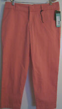 KUT FROM THE KLOTH WOMEN'S CROPPED/CAPRI PANTS-SIZE 6-COTTON BLEND-CORAL-NWT