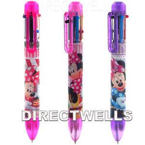 Disney Minnie Mouse 3 Authentic Licensed Multicolors Pens ( 3 Pens )