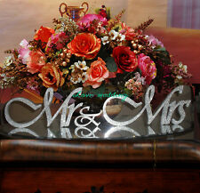 custom Silver Crystal shining bright Mr &Mrs sign Wedding Gift Letters White