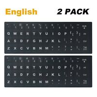 [2 Pack] Universal English Keyboard Stickers, Replacement English Keyboar... New