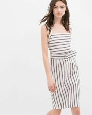 Zara Striped Sleeveless Dresses for Women