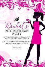 Personalised Birthday Invitations Adult 18th, 21st, 30th, 40th, 50th x 5