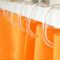 12x Shower Curtain Transparent Plastic Hook Set Rings C Shape Pack of 12