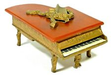Vintage Grand Piano Music Box Thorens Swiss Gold Gilt Piano w/ Keyboard Bakelite