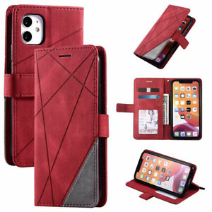 For iPhone 11 12 Pro Max XS XR SE 2020 8 7 Wallet Flip Leather Phone Case Cover