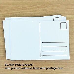 4x BLANK POSTCARDS. 300 gsm thick paper. Draw Paint Colour it. Matte. White. 6x4