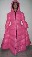 Glossy Shiny Nylon Wetlook Winter Coat Down Dress