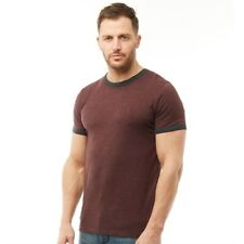 French Connection Mens FCUK Ringer T-Shirt - Chateaux Melange Marine - RRP £25
