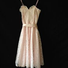 Gunne Sax Pink Lace Dress vintage girls size 10 Party Formal Wedding flower girl