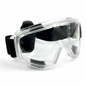 Safety Goggles Glasses Sealed Eye Protection Anti Fog Clear Vents