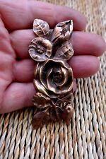 Vintage brass furniture mount decorative fitting project flower design 28-09