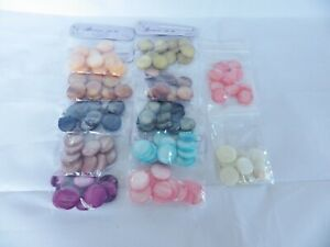 JOB LOT: 120 x 20mm18mm Natural Dyed Shell Disc Beads : 10 beads x 12 colours