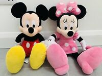"""Disney Parks Exclusive - 16"""" Classic Mickey & Minnie Mouse Plush / Soft Toys"""