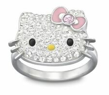 RARE! NEW SWAROVSKI HELLO KITTY RING WITH PINK BOW SOLD OUT! RETIRED! 52