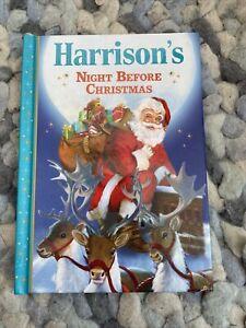 Harrison's Night Before Christmas Personalised Christmas Eve Hardback Book