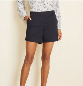 Ann Taylor Shorts Navy Blue Flat Front Women's Size 2 NEW without Tags
