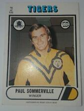 Rugby League Card , Scanlens 1976 Paul Sommerville Balmain Tigers  #96