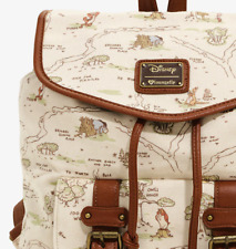 Loungefly Disney Winnie The Pooh Hundred Acre Wood Map Rucksack Backpack Bag NWT